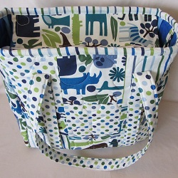 patchwork 2d zoo diaper tote 250