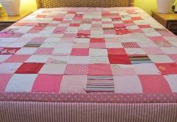 queen pink quilt