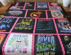 tshirt concert quilt