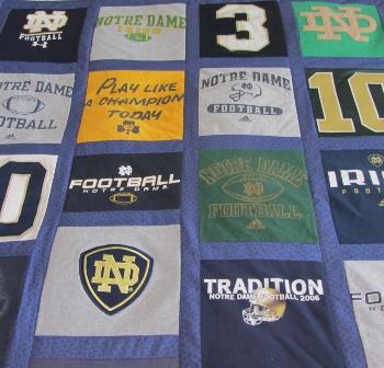 football jersey quilt