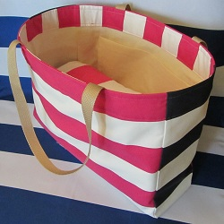 beach bag fuchsia side 250