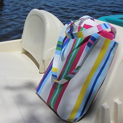 Beach tote multicolor 250