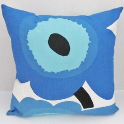 blue unikko pillow