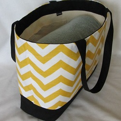 beach chevron yellow