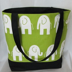 elephant tote front