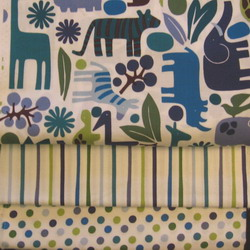 fabric combo 2D zoo blue 250