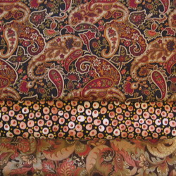fabric combo brown paisley 250
