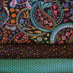 fabric combo black paisley turq 250
