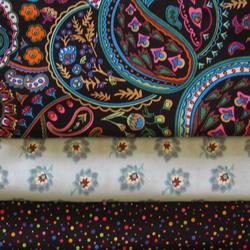 fabric combo black turq flower 250
