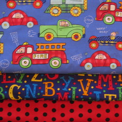 fabric combo cars red PD 250