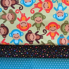 fabric combo new monkey 225