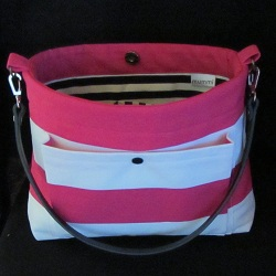 canvas purse fuchsia 250