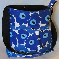 blue mini unikko bag