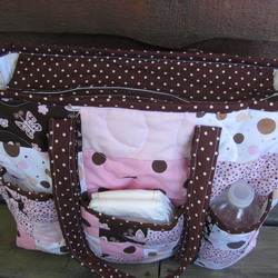 new bag polka dots brown 250