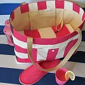 Canvas Beach tote, diaper bag-canvas,tote,totes,stripes,striped,nautical,beach,pool,diaper,bag,bags,shoulder,weekender,