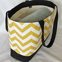 Chevron/Damask Beach tote