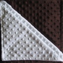 Minky dimple dot crib blanket