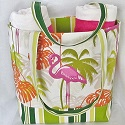 Flamingo Beach Tote-beach tote,beach totes,beach bag,beach bags,flamingo,Florida,Palm Beach,South Beach,Florida,canvas,pink flamingo,diaper bag,diaper bags,diaper tote,diaper totes,weekender,shoulder bag,shoulder bags,bag,bags,tote,totes,handmade,Toronto,Ontario,Canada,mummi studio