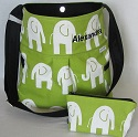 Elephant Hobo bag, matching pouch