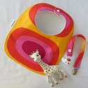 Marimekko bib and pacifier set