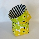 Marimekko Fabric Basket-Marimekko,fabric,basket,baskets,bin,bins,storage,napkin holder,gift,Christmas,canvas,house warming,hostess,hostess gift,Finland,Finnish,handmade,Canada,Canadian,Toronto,Ontario,gabric basket,canvas basket