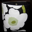 Messenger bag, hipster-Marimekko,blue,black and white,shoulder,messenger,bag,bags,hipster,purse,large,Unikko,poppy,authentic,fabric,Finnish,Finland,handmade,Canada,Canadian,Toronto,Ontario