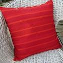 MARIMEKKO pillow cover-Marimekko,pillow,cushion,cover,covers,red,stripes,zipper,handmade,Toronto,Ontario,Canada,Canadian,custom,Finland,Finnish,design,authentic,fabric,cotton