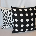 B & W pillows-black and white,black & white,polka dot,polka dots,pillow,pillows,dot,dots,pillow cover,pillow covers,throw pillow cover,accent pillow,accent pillows,throw pillow covers,cotton,modern,handmade,Toronto,Ontario,Canada,Canadian