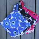 MARIMEKKO Pot holders-marimekko,pot holder,pot holder set,pot holders,unikko,mini,mini unikko,Maija Isola,red,black,blue,Finland,Toronto,Ontario,Canada,Canadian,handmade,Finnish,design,designer,authentic,fabric,Finnish