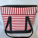 Striped canvas tote-stripe,stripes,striped,tote,totes,bag,bags,shoulder bag,shoulder bags,beach tote,beach totes,diaper bag,diaper bags,weekender,black and white,red and white,canvas,canvas tote,canvas totes,cotton,handmade,Toronto,Ontario,Canada,Canadian,zipper,zippered,