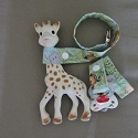 Sophie leash, pacifier clip