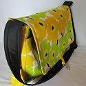 Marimekko Unikko messenger bag-Marimekko,Unikko,mini Unikko,bag,bags,tote,totes,messenger bag,messenger bags,laptop bag,laptop bags,shoulder bag,shoulder bags,yellow,red,blue,black,Finland,handmade,Toronto,Ontario,Canada,