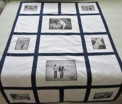 wedding quilt black and white
