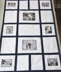 wedding quilt b and white